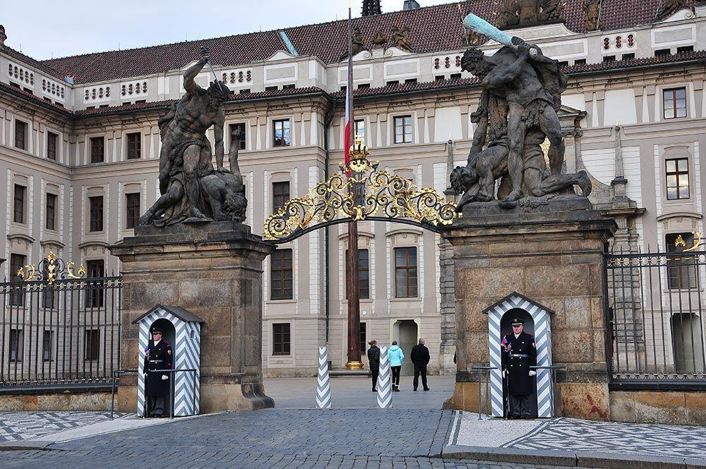 entrée principale château de Prague