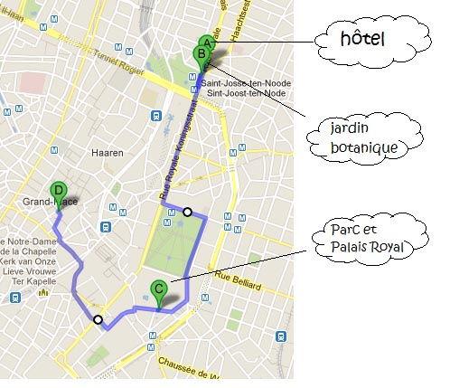 itinéraire jour 1