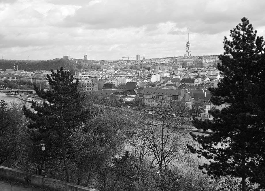 panorama ville prague