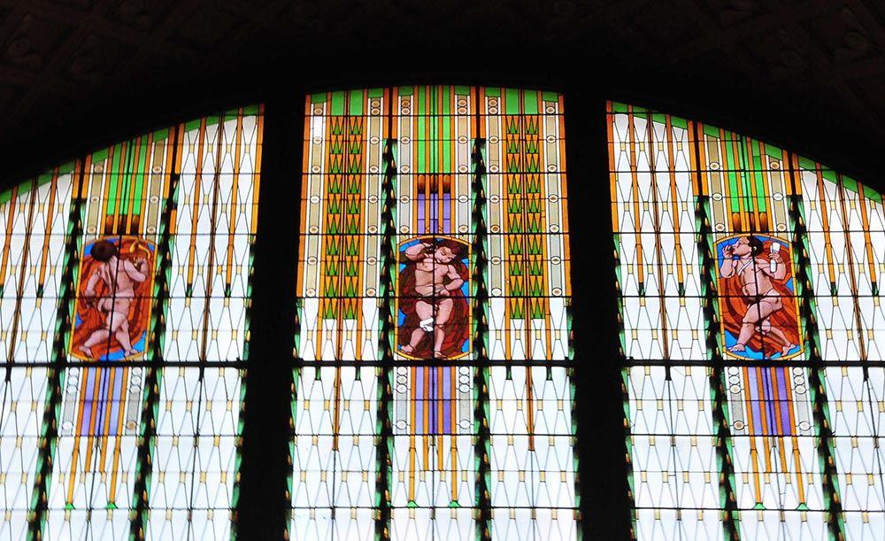 vitraux gare prague Hlavni Nadrazi