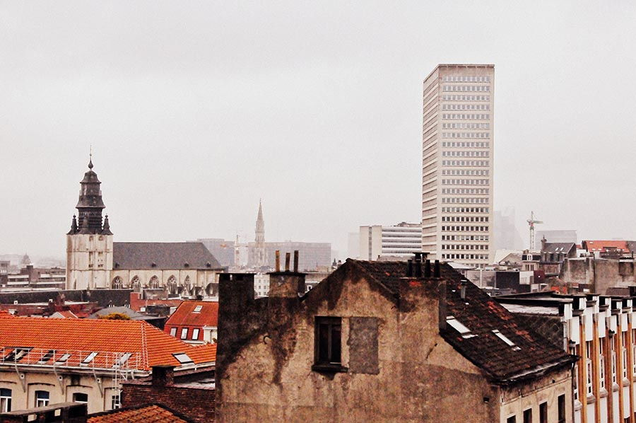 bruxelles vue toits , panorama