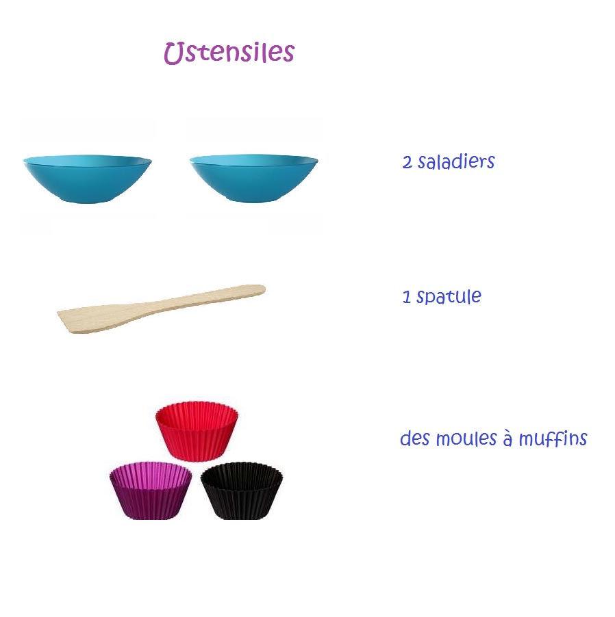 ustensiles muffins framboises