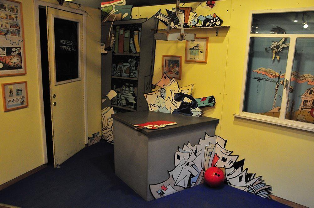 Le bureau de mon homologue masculin (Gaston Lagaffe)