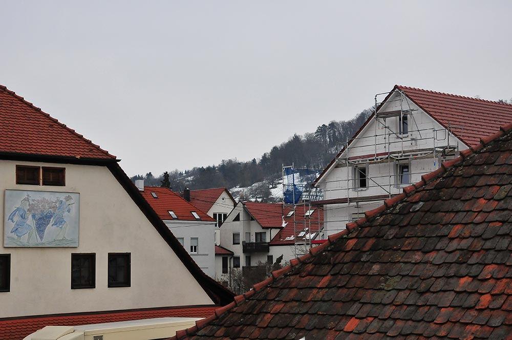 Metzingen et ses collines en arrière-plan