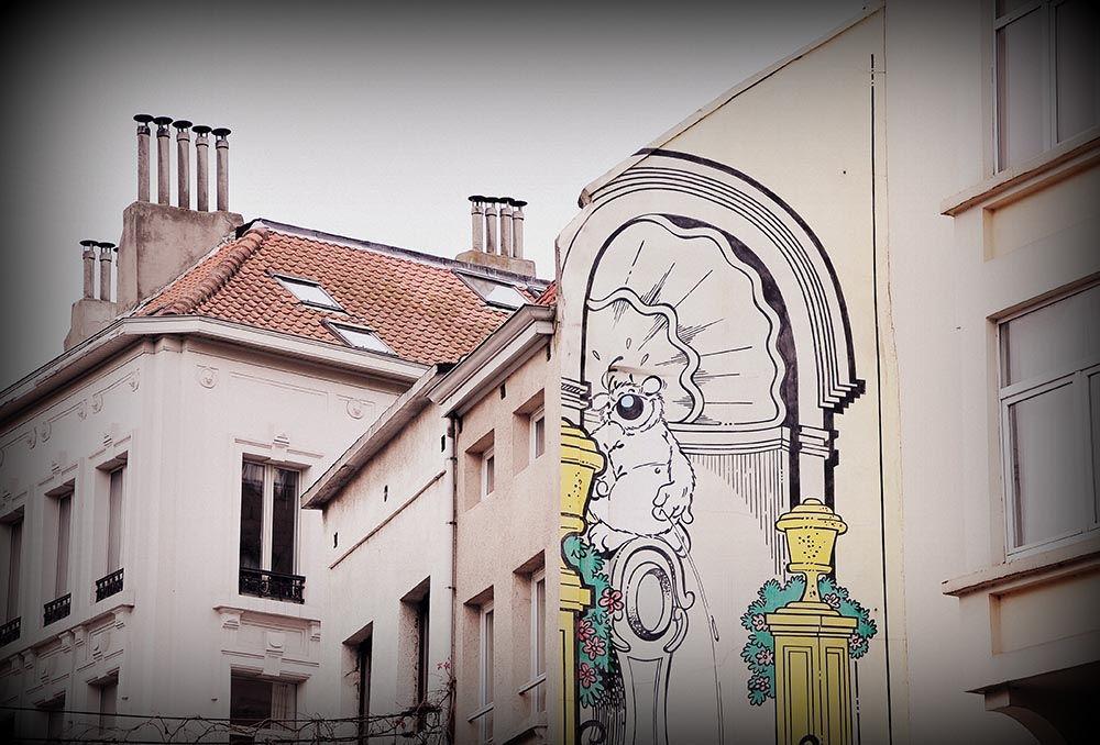 cubitus parcours bd rues quartier sainte-Catherine Bruxelles