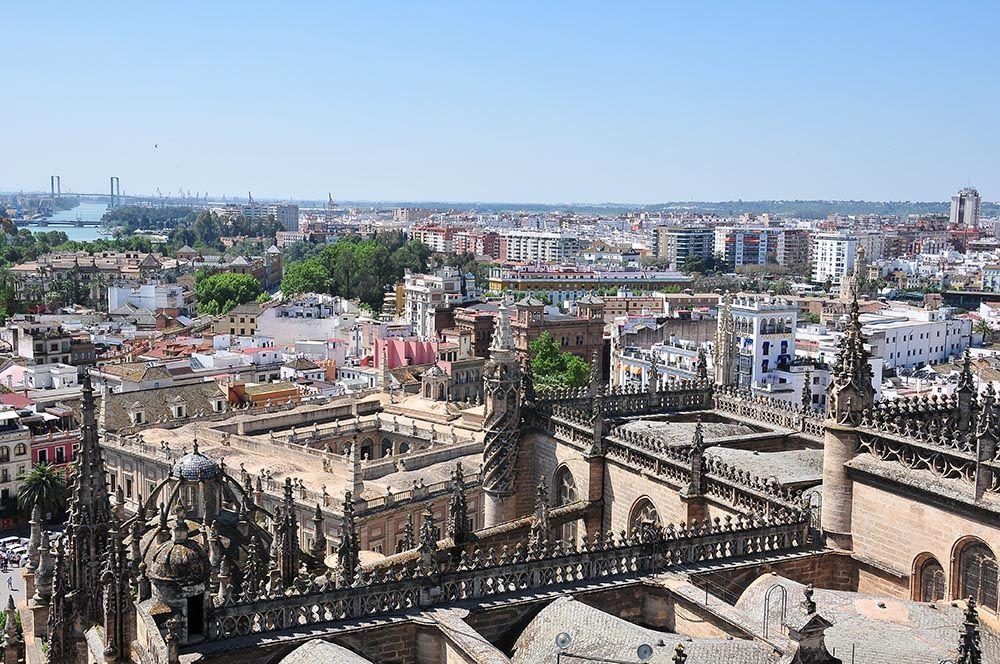 Panorama sur la ville de Séville, depuis la Giralda