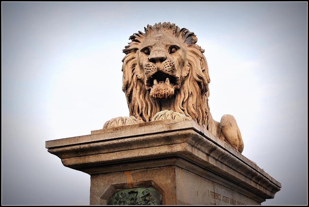 pont des Chaînes Budapest lions