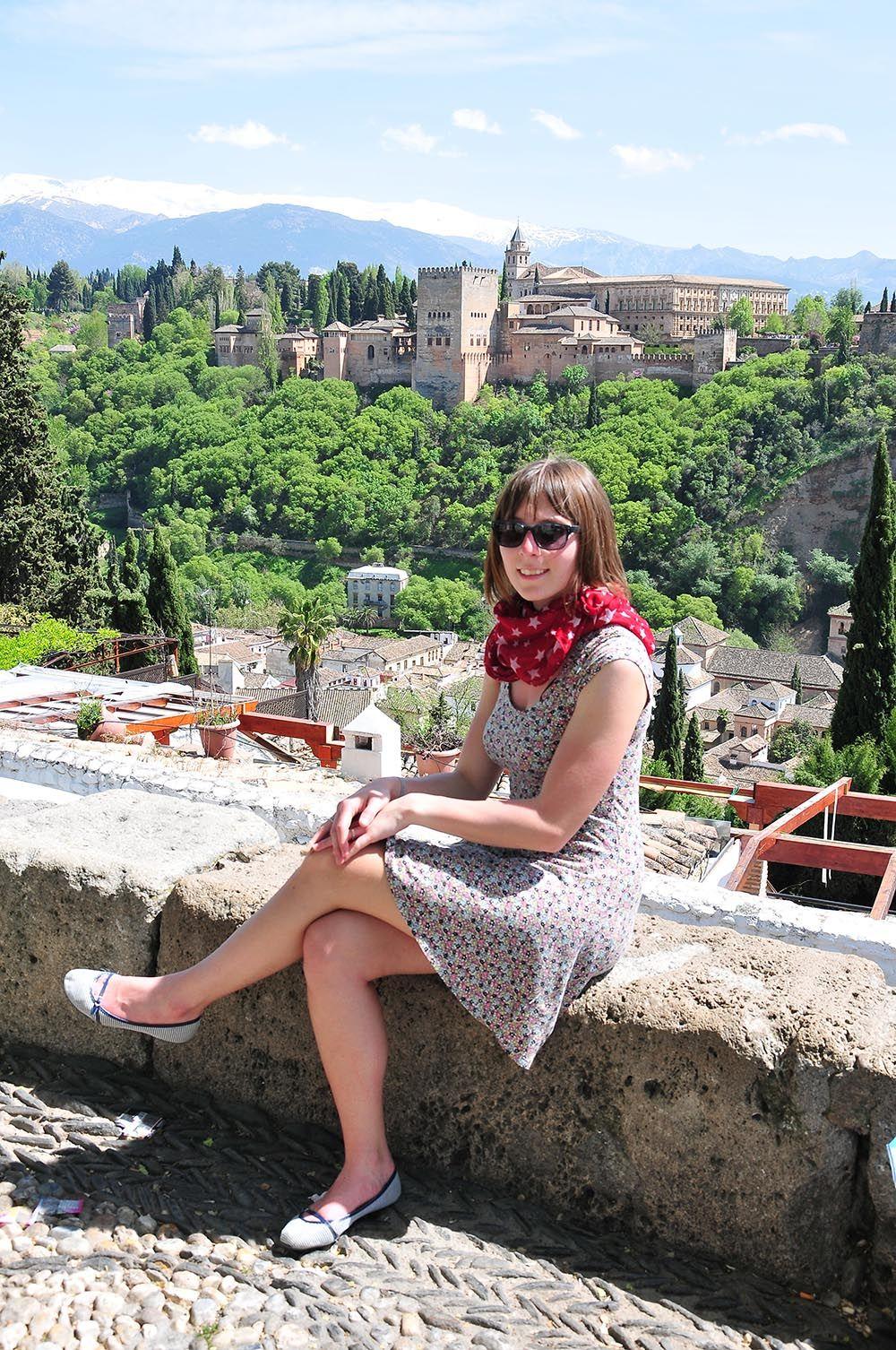 Devant l'Alhambra
