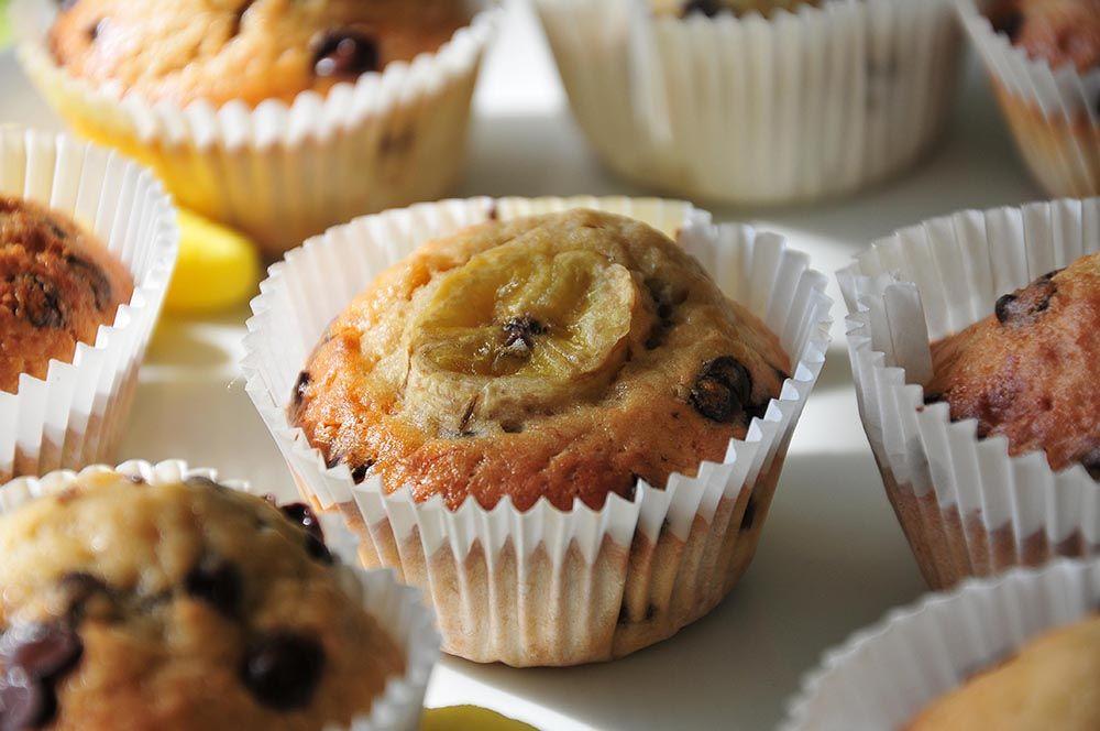 muffins banane pépites de chocolat