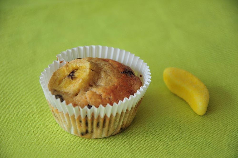 muffins bananes pépites de chocolat