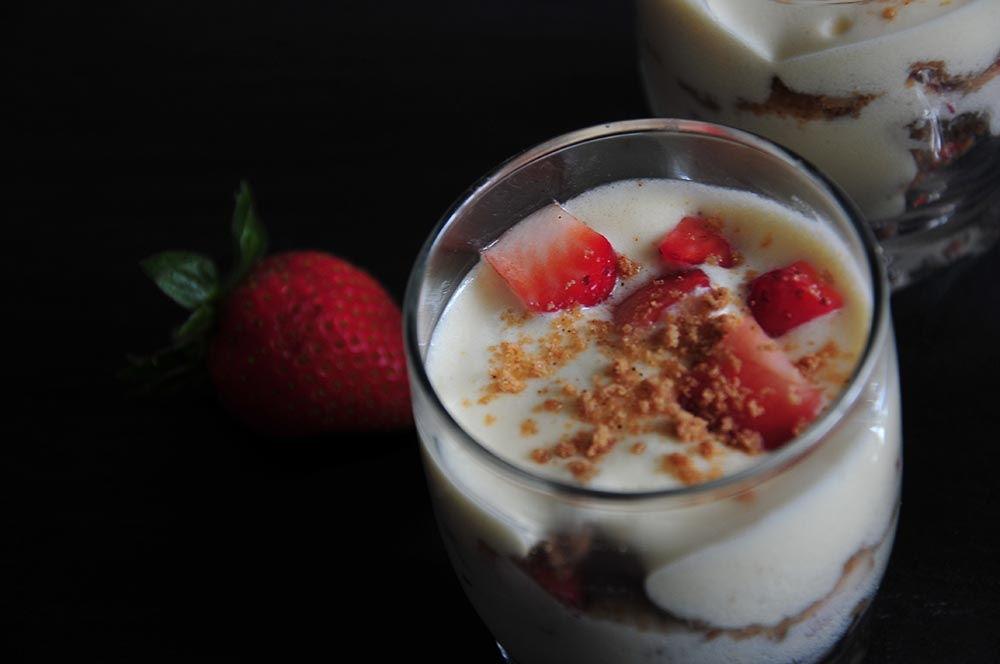 verrines de tiramisu fraise speculoos