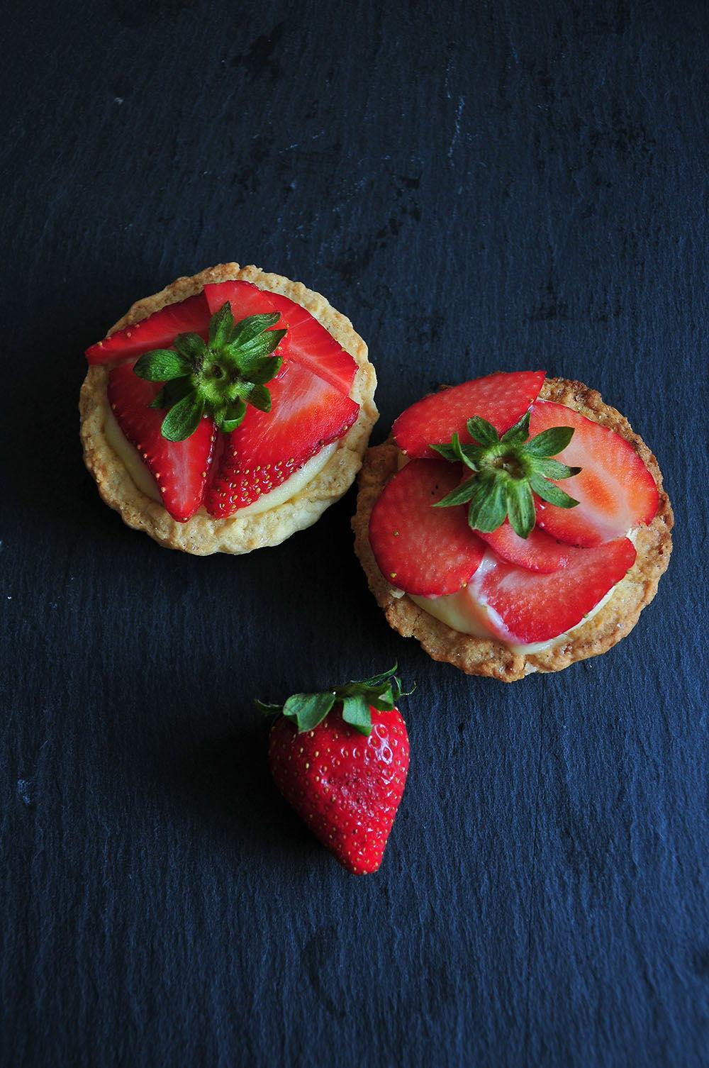 Tartelettes gourmandes aux fraises.
