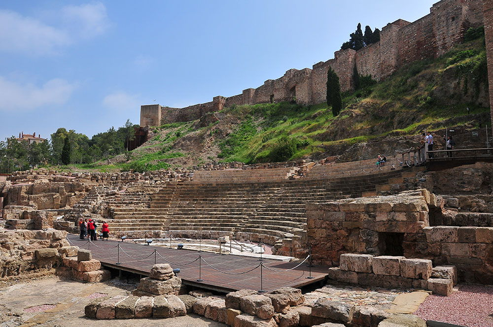 vestiges du théâtre romain malaga