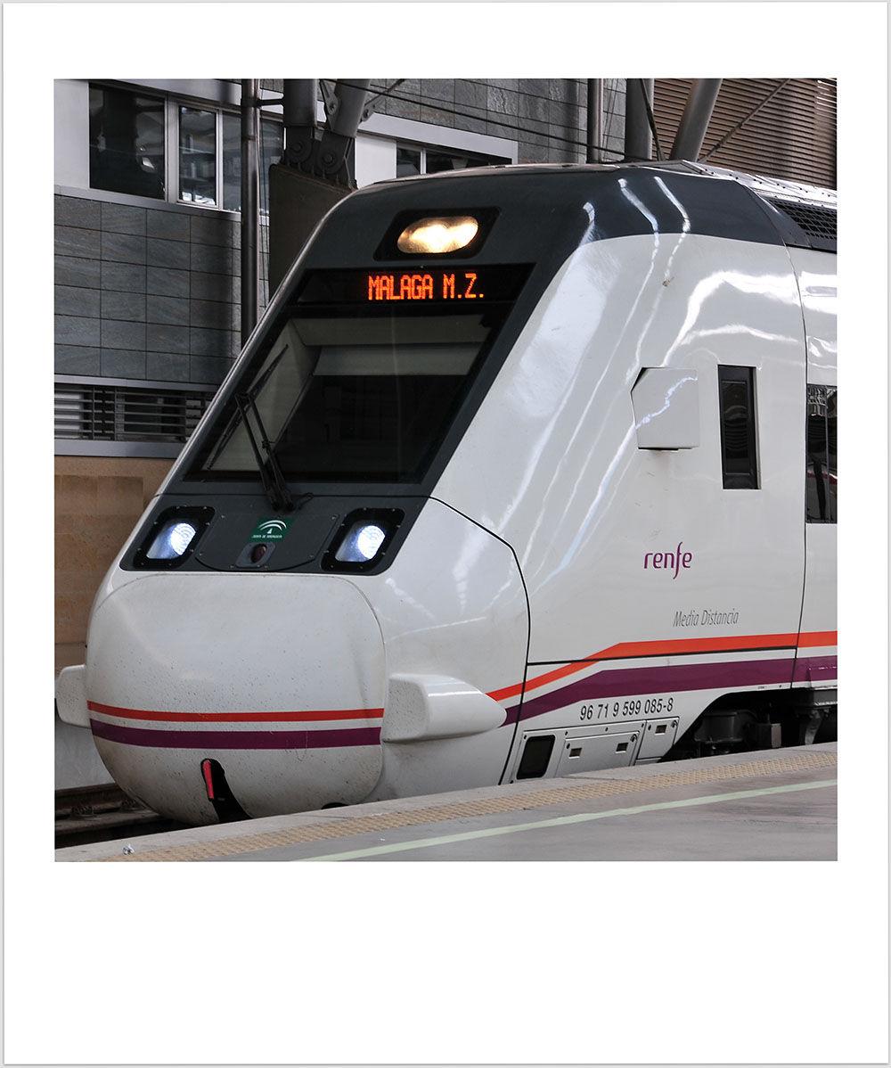 train gare Malaga Andalousie
