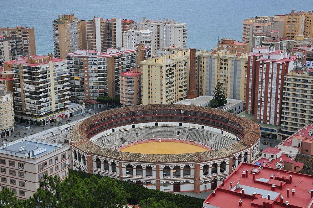 La Plaza de Toros, et les arènes de Málaga