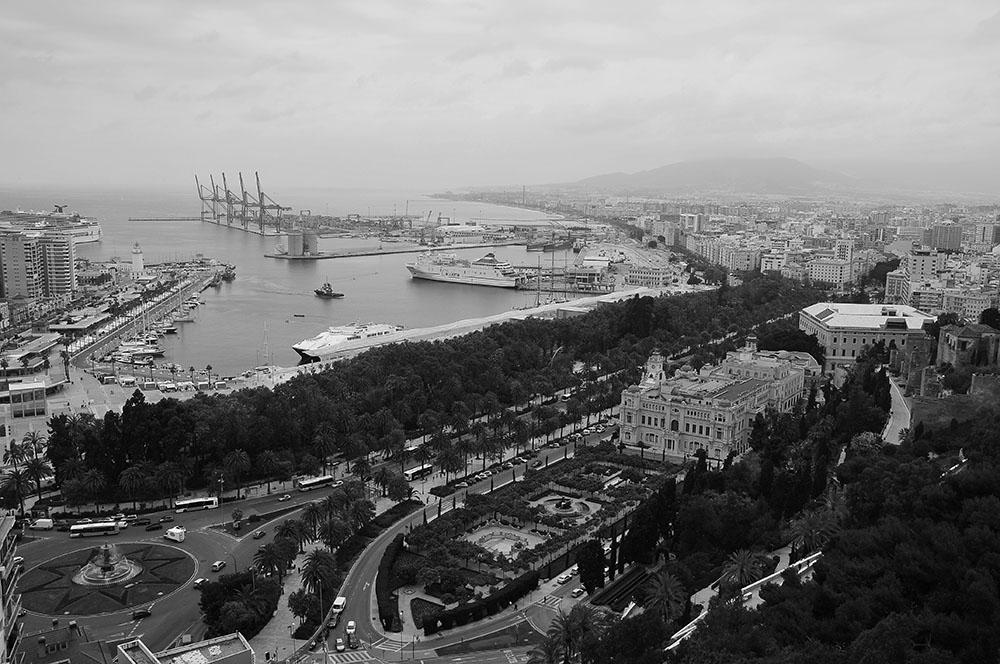 port et marina, vue d'ensemble de port et marina de Málaga, vue d'ensemble de port et marina de Málaga, vue d'ensemble