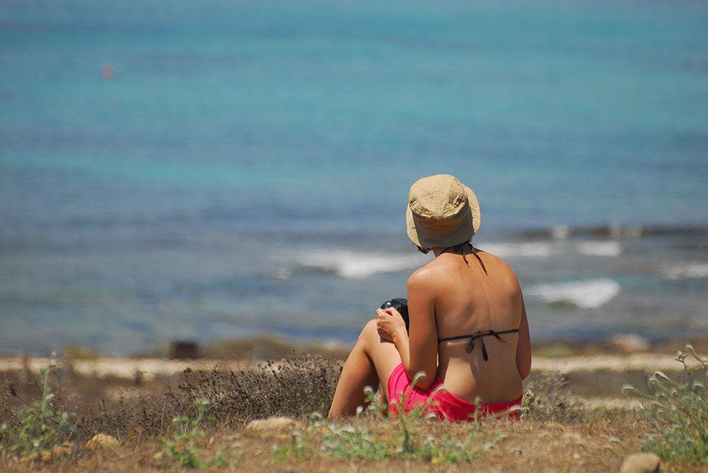 site archéologique paphos vue sur la mer