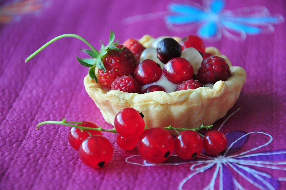 Tartelette aux fruits rouges recette
