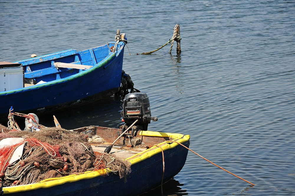sant'antioco bateaux de pêcheurs