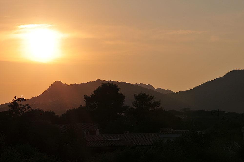 coucher de soleil, Sardaigne, Pittulongu