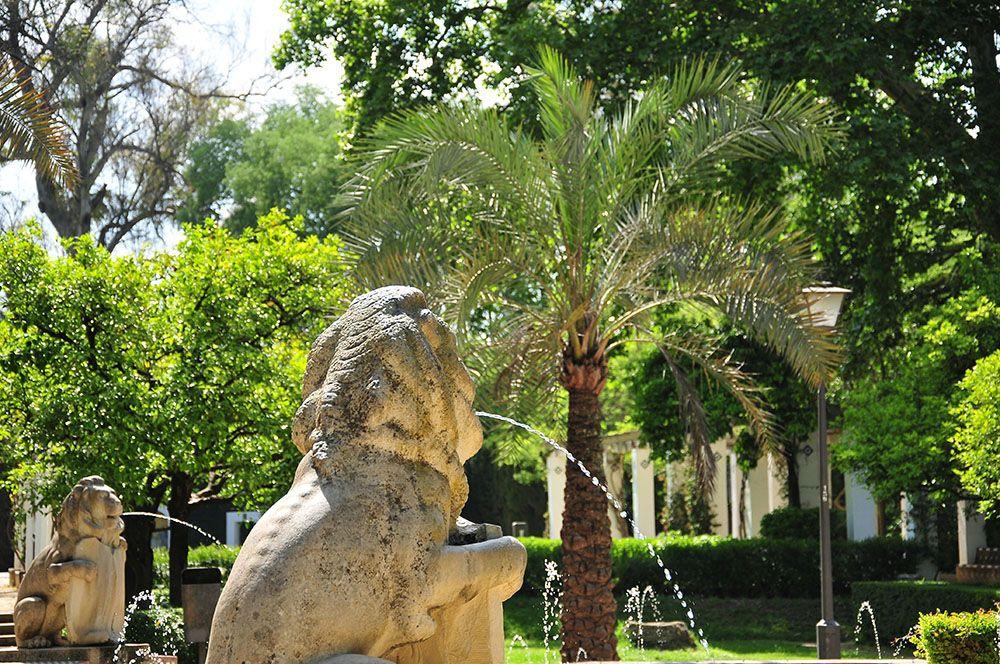 parc maria luisa séville fontaine des lions