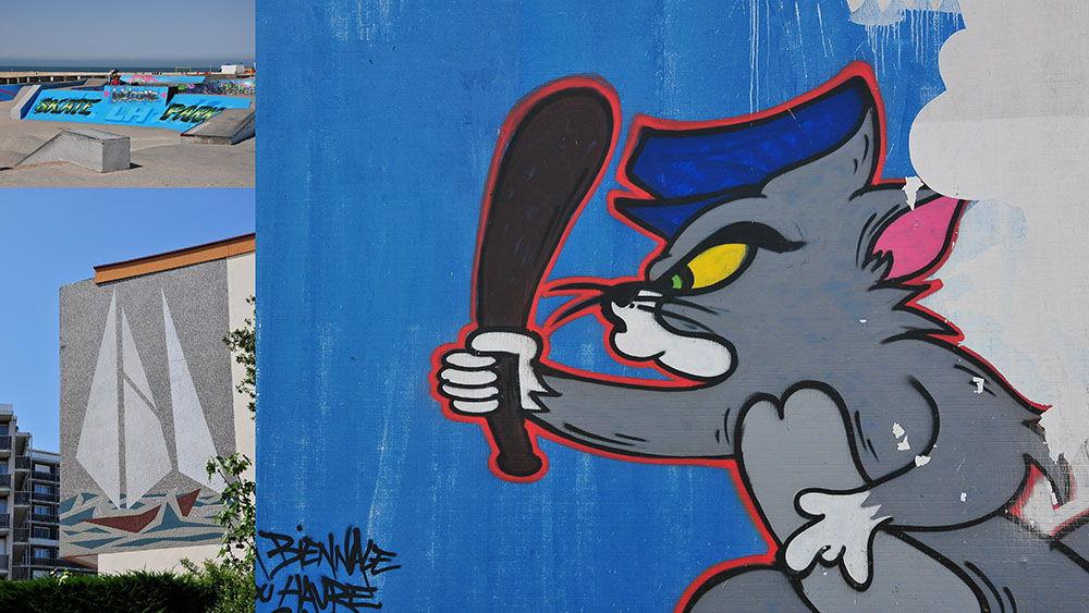 Le street art est à l'honneur dans certaines rues...