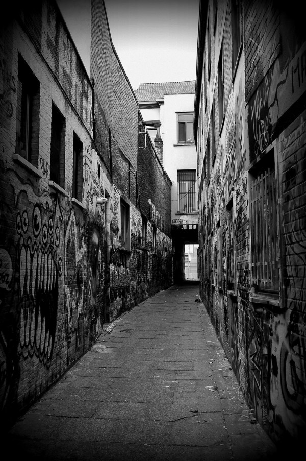 Werregarenstraat Gand, ruelle où le street art est roi.