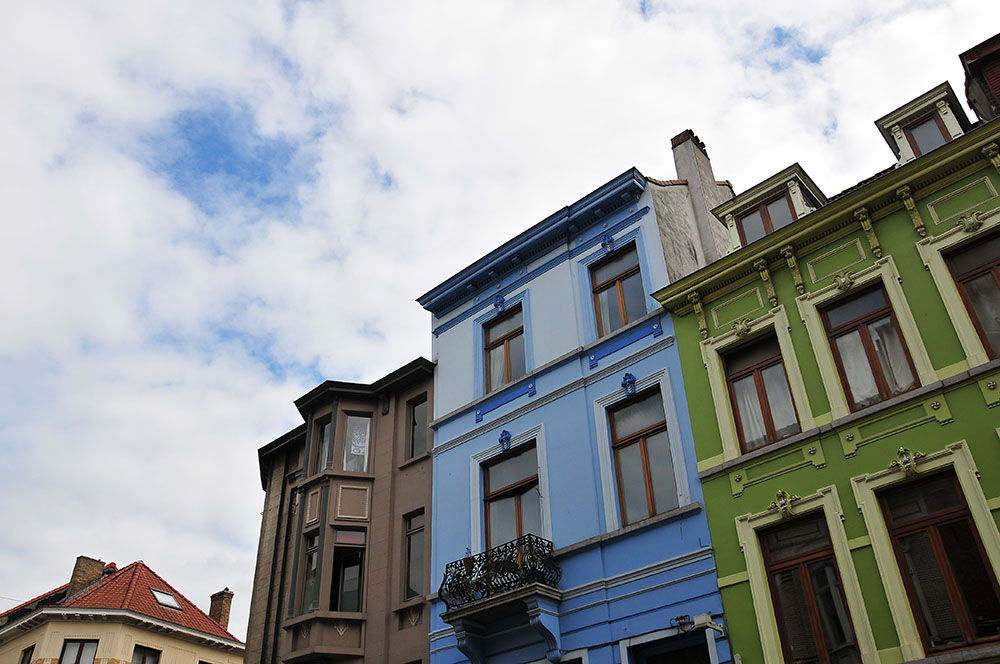 Gand maisons pastels