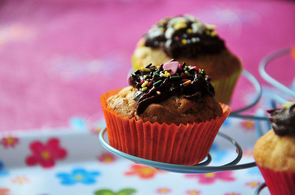 cupcakes chocolat noix de pécan vanille