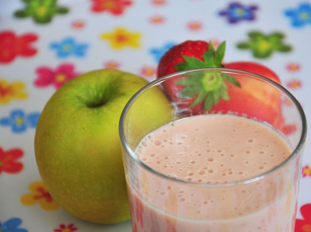 smoothie fraise nectarine pomme
