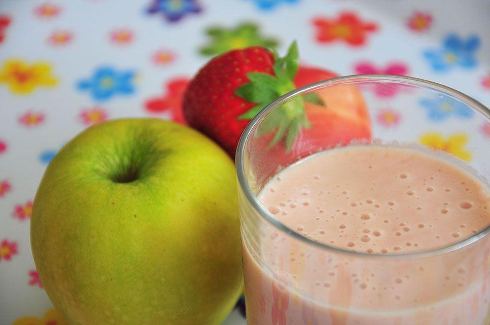 smoothie nectarine fraise pomme