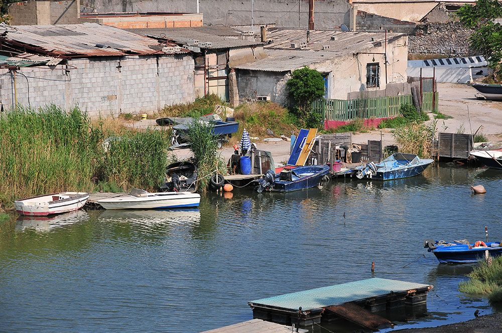 cagliari, sardaigne, village des pêcheurs