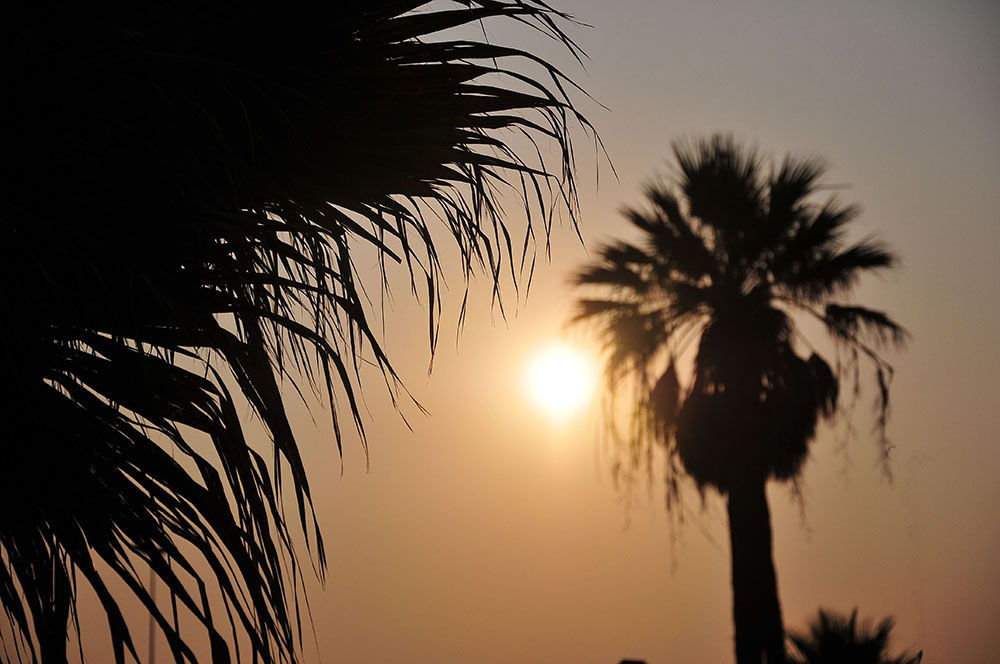 Cagliari, Sardaigne, coucher de soleil