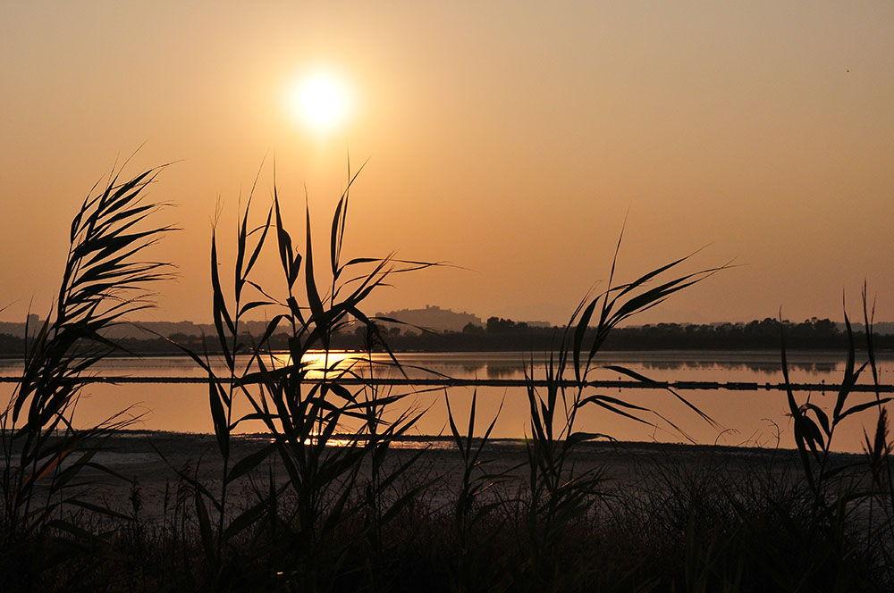 cagliari, sardaigne , coucher de soleil