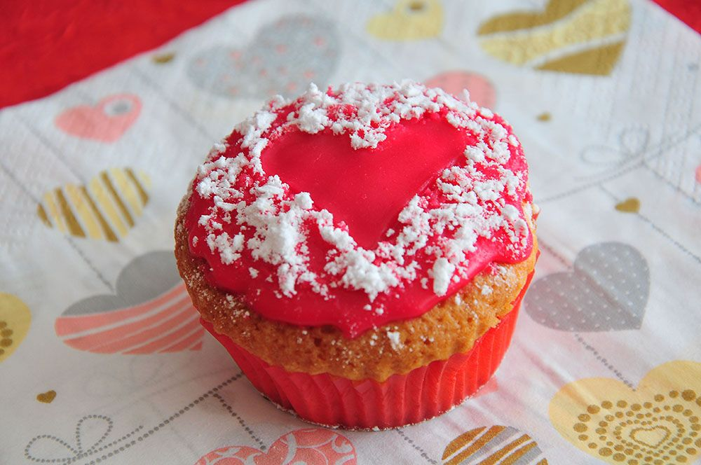 cupcakes coeur, saint-valentin