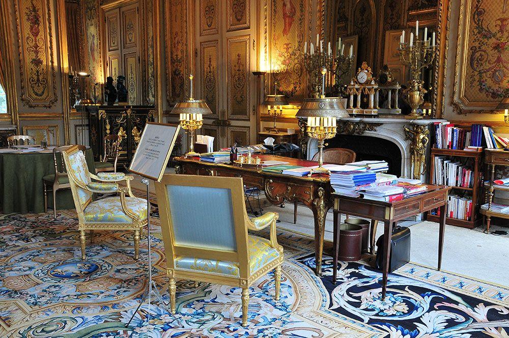visite de l'Elysée, bureau du président