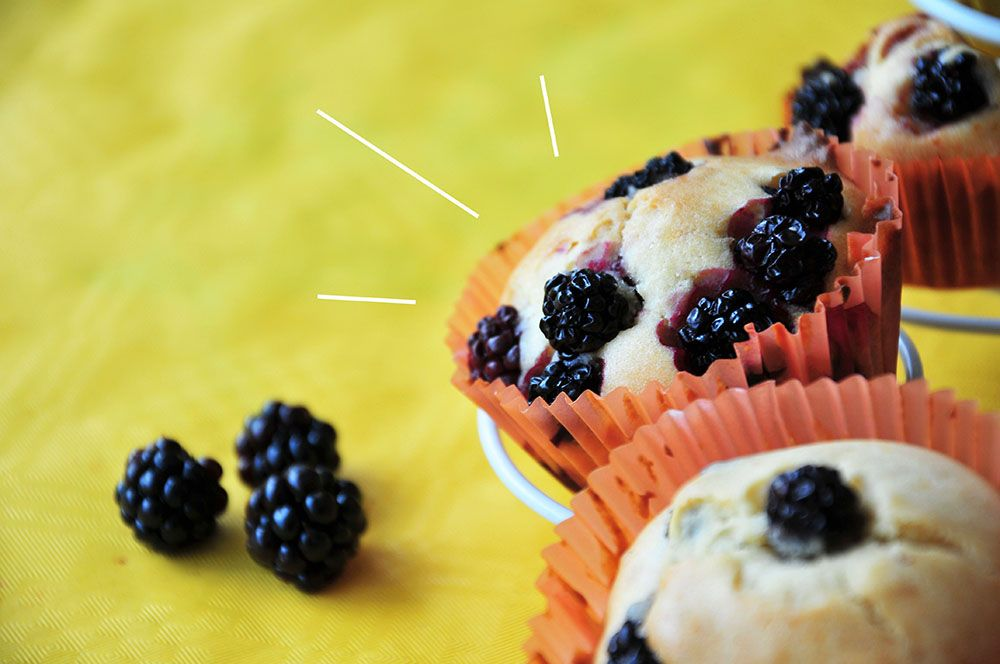 muffins mûre et sirop d'agave
