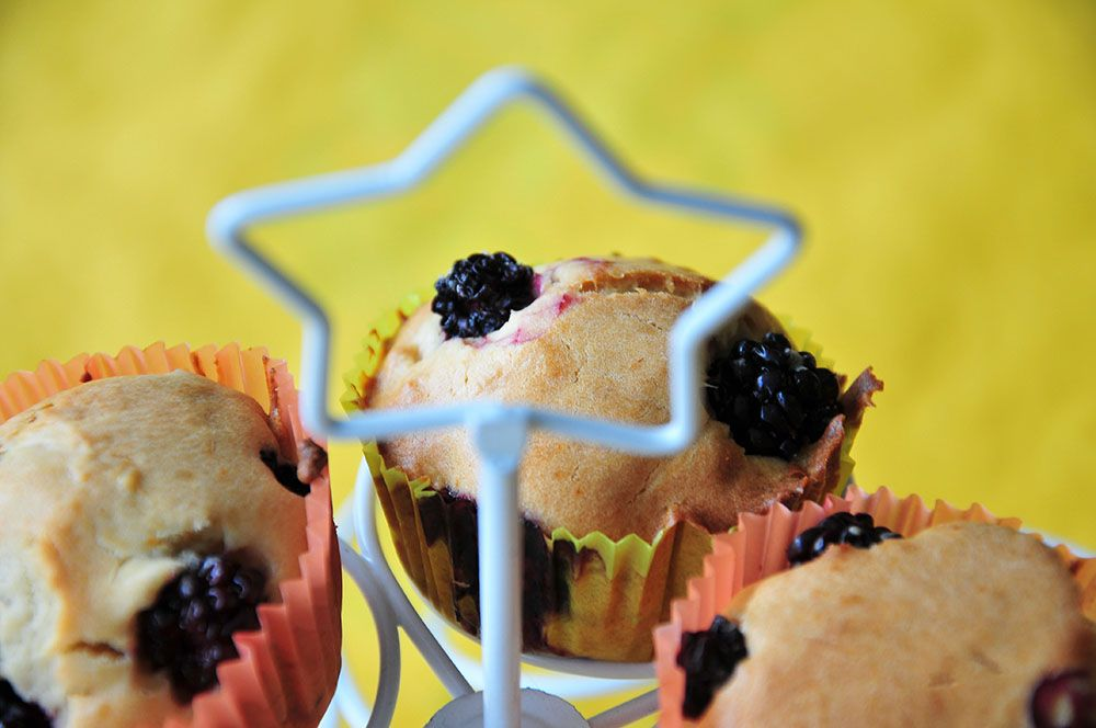 muffins mûres et sirop agave