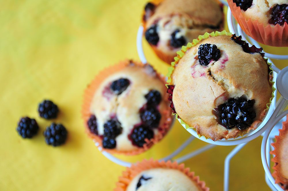 muffins mûres sirop d'agave