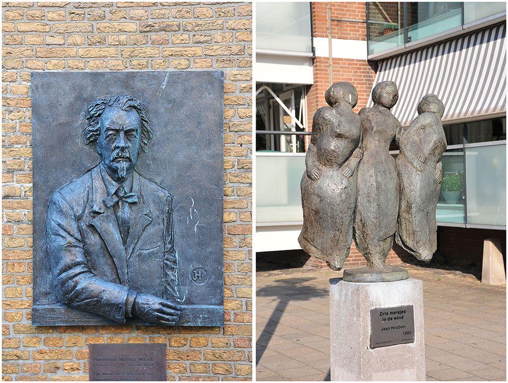 statues rues vlissingen, flessingue, zélande
