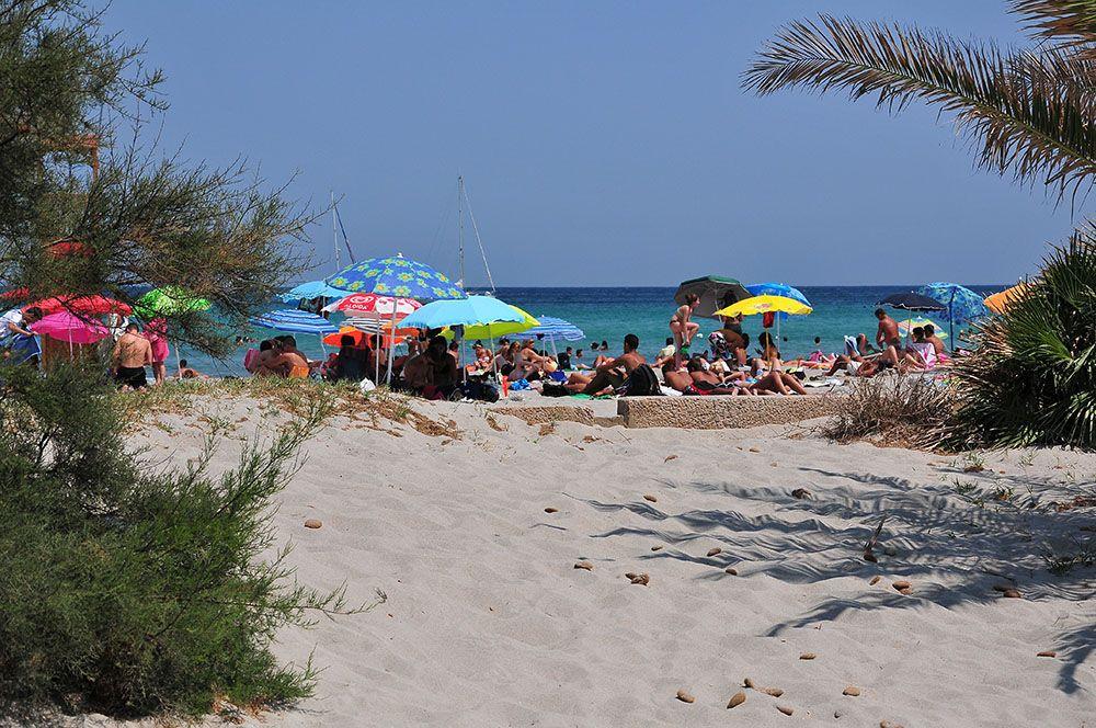 spiaggia del poetto, plage du poète, cagiari, sardaigne