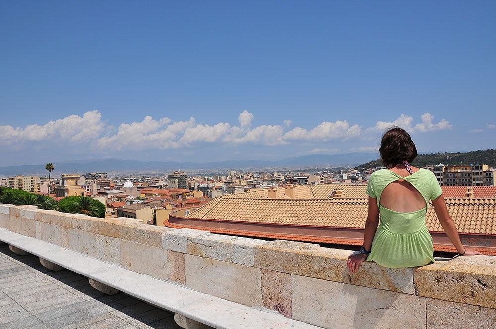 quartier du Castello, Cagliari, Sardaigne, vues depuis le bastion Saint-Rémy