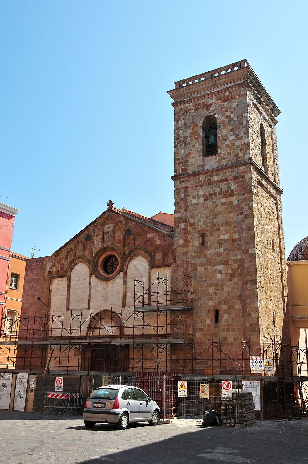 rues Iglesias, Sardaigne, cathédrale di Santa-Chiara