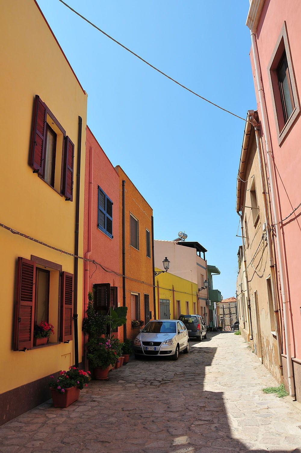 rues Portoscuso Sardaigne