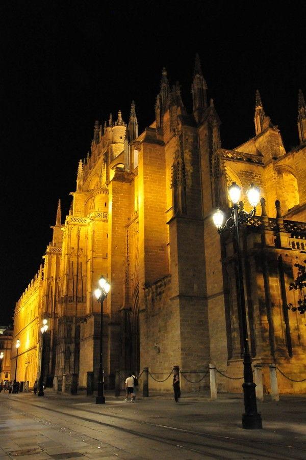 église séville vue de nuit