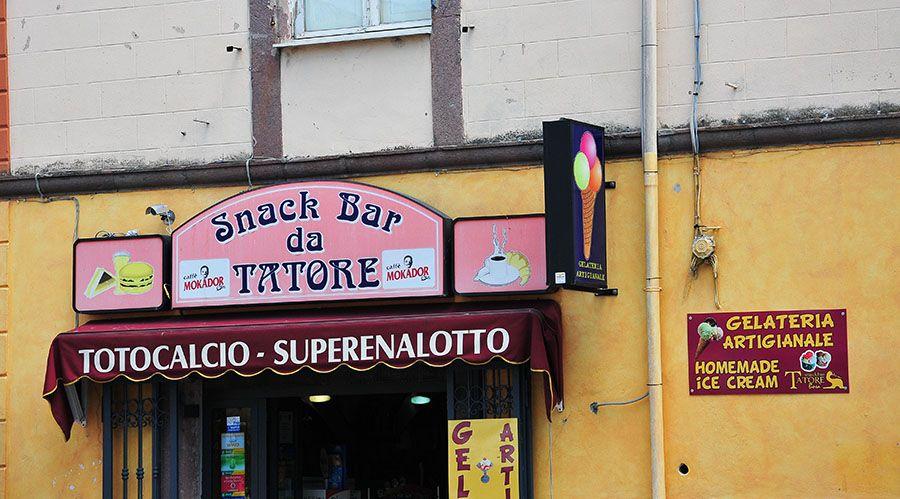 Bosa , gelateria, Sardaigne