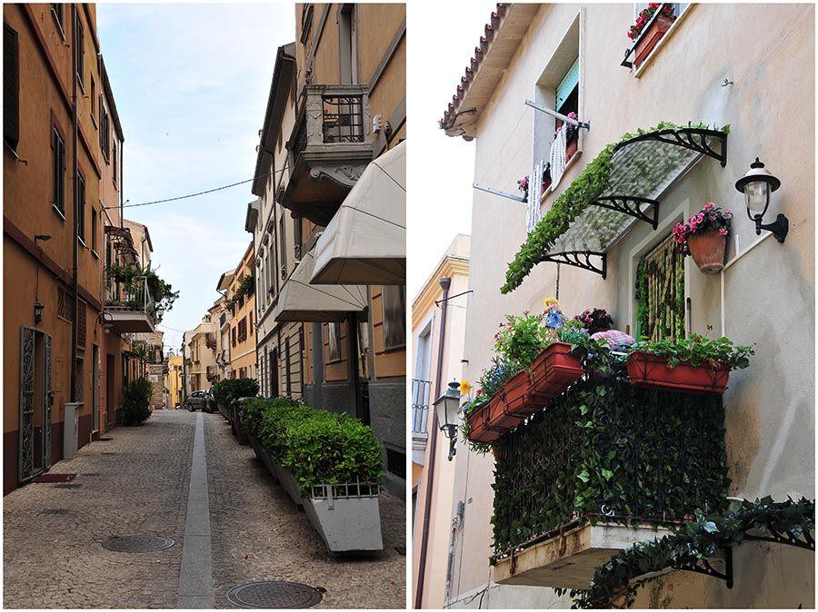 balcons et rues Olbia, Sardaigne