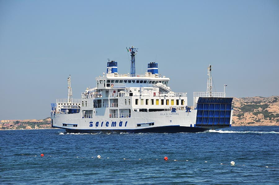 Navette vers l'isola de Caprera, l'une des îles de l'archipel.