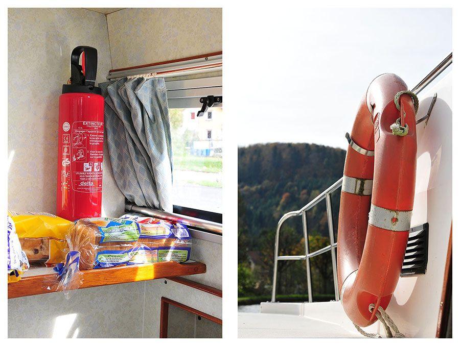 croisière fluviale, matériel bateau