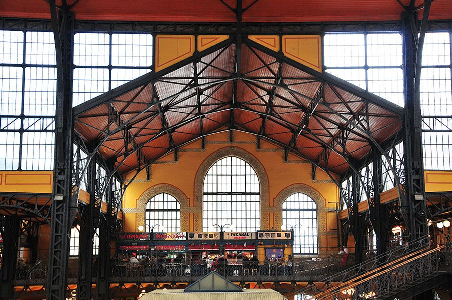 marché central Budapest, Gustave Eiffel